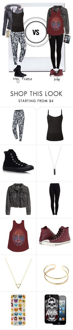"""""""My Friend's Style Vs. My Style"""" by elmoknowswhereyoulive ❤ liked on Polyvore featuring NIKE, Converse, Karen Kane, H&M, Pieces, Billabong, Wanderlust + Co, vs, versus and friend"""