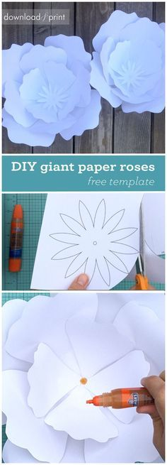 The 29 best paper flowers templates images on Pinterest in 2018 ...