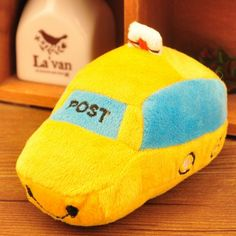 adorable car shape or slipper  plush squeaker toy