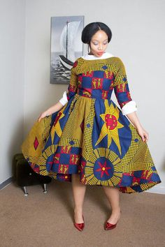 Robe africaine African clothing impression par EssieAfricanPrint