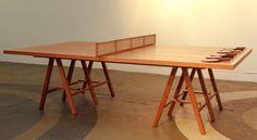 Portfolio - Whiskey Pong - Ping Pong Table - Offerman Woodshop