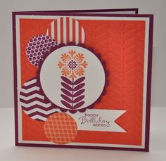 Madison Avenue - Stampin Up Sycamore Street, Stamping Up, Rubber Stamping, Circle Punch, Madison Avenue, Card Stock, Chevron, Projects To Try, Card Making