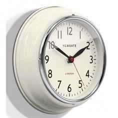 Newgate Clocks Mini Cookhouse Wall Clock - Linen White