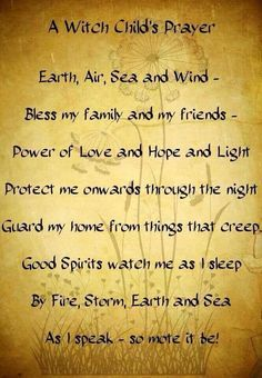 A witch child's prayer