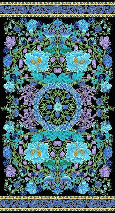 Chong-a Hwang - Suffolk - William's Garden - Quilt Fabrics from www.eQuilter.com