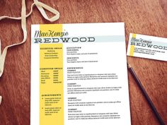 The Redwood Suite Customizable resume and by itsprintable on Etsy, $24.00