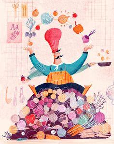Vegitarian editorial - Cathrine Finnema illustration  :)