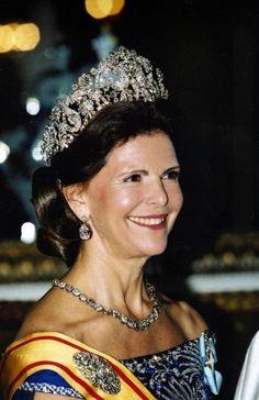 Queen Silvia of Sweden...Braganza tiara