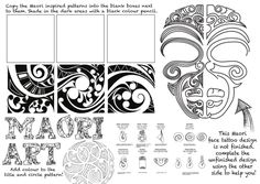 Maori Art Maori are the indigenous people of Aotearoa New Zealand High School Art, Middle School Art, Art Maori, Art Doodle, Art Handouts, Art Aquarelle, New Zealand Art, 6th Grade Art, Art Worksheets