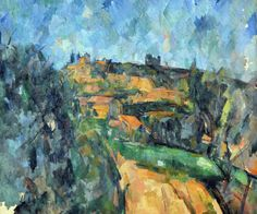 Bend of the Road at the Top of the Chemin des Lauves, 1904-06. Paul Cezanne.