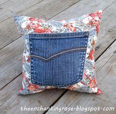 Prayer Pillow - maybe use bandana with old jean pocket...