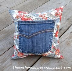 Prayer Pillow - maybe use bandana with old jean pocket...