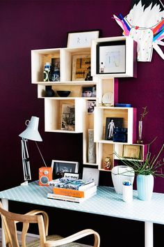 oooh love the color and the box shelves