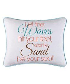 Look at this #zulilyfind! Waves & Sand Throw Pillow #zulilyfinds