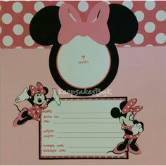 Minnie Mouse Baby Book Scrapbook