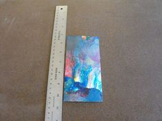 One Small Piece Cut From Abstract Expressionism Watercolor - C7 #Expressionism