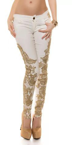 Dámské bílé kalhoty