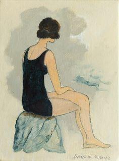 Original Beach Painting by Svetlana Kurmaz Oil On Canvas, Canvas Art, Original Art, Original Paintings, Women Figure, Woman Painting, Art Deco Fashion, Art Oil, Buy Art