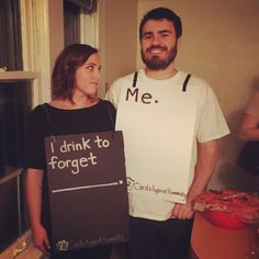 best couples halloween costumes to wear this year 50 diy couples costumes guaranteed to win every halloween party contest Disney Halloween, Costume Halloween, Easy Couple Halloween Costumes, Easy Couples Costumes, Fete Halloween, Halloween 2017, Holidays Halloween, Funny Couple Costumes, Couples Halloween Costumes 2017