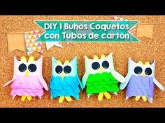 DIY   Búhos hechos con tubos de papel   Reciclaje   Fácil - YouTube