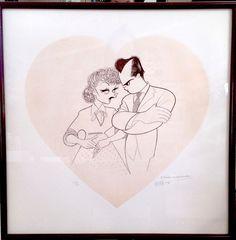 AL HIRSCHFELD Artist Proof Hand Signed to Me I LOVE LUCY LUCILLE BALL DEZI ARNAZ #AlHirschfeld
