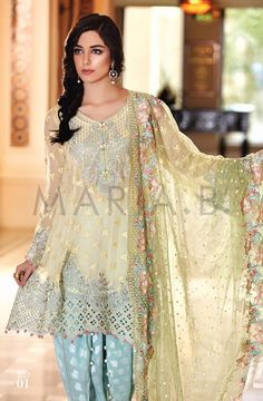 Maria B Mbroidered Eid Collection 2016- Best Women Dresses | StylesGap.com