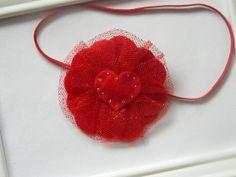 Valentine Headband - Red Heart Headband - Baby Heart Headband on Etsy, $7.95