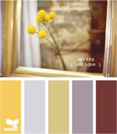 Love this for my living room & kitchen.  Will work with my current  brick red/gold draperies.  The grey tones and brighter yellow will modernize the room a bit.  On the lookout for fabric.... Will need some home decor fabric to recover kitchen chairs...also a darker stain for the table top.