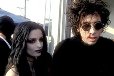 Tim Burton and Lisa Marie at The Nightmare Before Christmas Book Party in Los Angeles, Otcober 31st, 1993