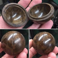 Prototype Chechen burr sphere box, I made this box to run through the process and see if I could do it. Not for sale - #woodworking #wood #woodturning #burr #burl