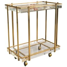Karl Springer Bar Cart | From a unique collection of antique and modern bar carts at http://www.1stdibs.com/furniture/tables/bar-carts/