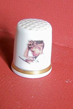 Norman Rockwell Day In Life Of Boy Series Thimble