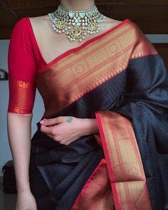 Indian Fashion Dresses, Dress Indian Style, Party Wear Indian Dresses, Indian Outfits, New Fashion Saree, Fashion Blouses, Cotton Saree Designs, Half Saree Designs, Silk Cotton Sarees