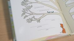 Family Tree - baby keepsake book #babymemorybook, #babybook