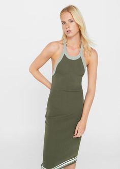 448b4f32860 Φόρεμα πλεκτό εφαρμοστό - Γυναίκα   MANGO ΜΑΝΓΚΟ Ελλάδα