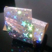 Silver Starburst Nail Transfer Foil