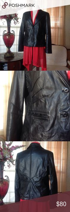 Wilson Maxima black leather jacket Never worn. Leather is soft and light. Bundle 3 items or more and get 25% discounts.                  .                                      j Wilsons Leather Jackets & Coats
