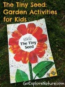 The Tiny Seed: Garden activities for kids.  The Tiny Seed lends itself to all sorts of simple seed-themed garden activities for kids. Here are a few ideas.