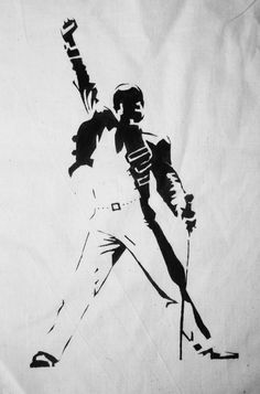 Check these out 10 of 15 photos about famous freddie mercury wall art for queen -freddie mercury wall art -vinyl lp record clock or framed. View full gallery of 15 photos and related wall art ideas here. Queen Of Hearts Tattoo, Queen Tattoo, Freddie Mercury Tattoo, Queen Freddie Mercury, Stencil Art, Stencils, Silhouette, Terra Nova, Michael Jackson Smile
