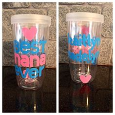 Best Nana Ever Personalized To Go Wine Glass with by cfoster1229