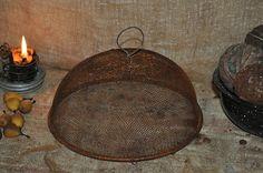 Early Old Replica Primitive Shoo Fly Food Screen Wire Knob Folk Art Decor | eBay