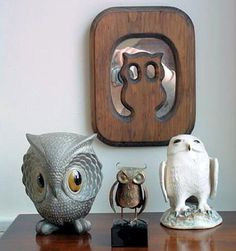 I have loved owls forever.  In fact, I adopted it knowing that Matt's mom, who passed away, used to collect them. Now they're so popular.
