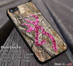 Camo Browning Pink Glitter iPhone 6s 6 6s  5s 5c 4s Cases Samsung Galaxy s5 s6 Edge  NOTE 5 4 3 #art ii