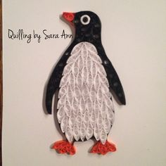 Quilling by Sara Ann - paper quilling penguin