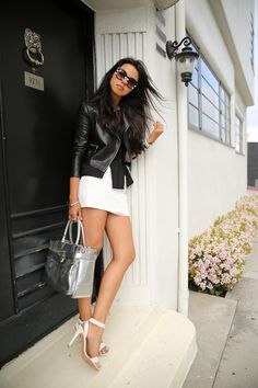Coach Leighann Heel with white & black leather VIVALUXURY: OH SO BLACK & WHITE