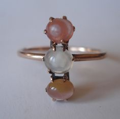 Antique Victorian TriColor Agate Ring by VictorianSpiritRings, $265.00