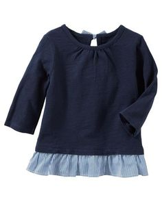 Toddler Girl Bow-Back Peplum Top from OshKosh B'gosh. Shop clothing & accessories from a trusted name in kids, toddlers, and baby clothes.