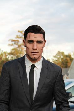 Archer Halloween Costume Comic book Makeup  Black Tie Men's Costumes All Beauty Bar   Products by Taryn Rogers Mineral Touch liquid foundation Perfect Eyeliner Magnificent Splurge Cream Shadow Pristine eyeliner
