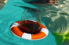 Drink Preserver, Floating Drink Holder, pool Keep Your iPad dry at the Pool - try a suction-mount, waterproof Splashtablet iPad Case.  Free Shipping! Under $40. On Amazon. Great Reviews