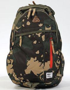 Addict Multi Pocket Back Pack Rucksack Camuflage Mens Womans Unisex Bag NEW UK
